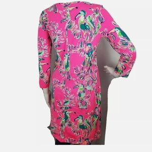 Lilly Pulitzer Dresses - LILLY PULITZER Pima Cotton Knit Dress Pink Parrot